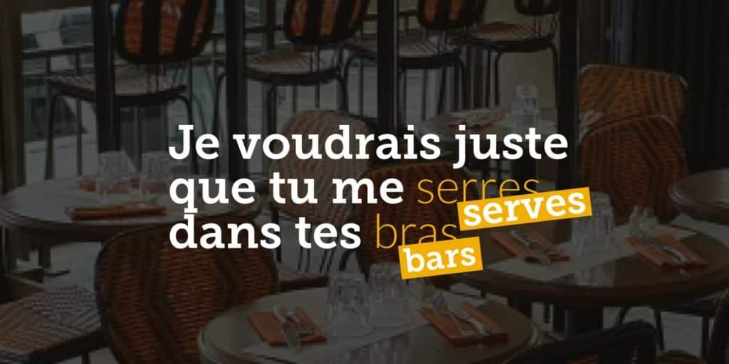 Soutien aux bars et restaurants