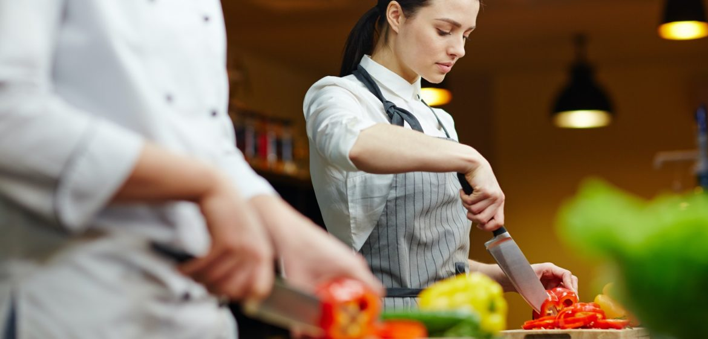 Working in restaurant