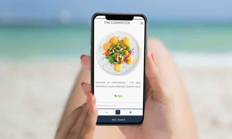menu digital interactif